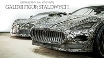 Scrap metal supercar sculptures