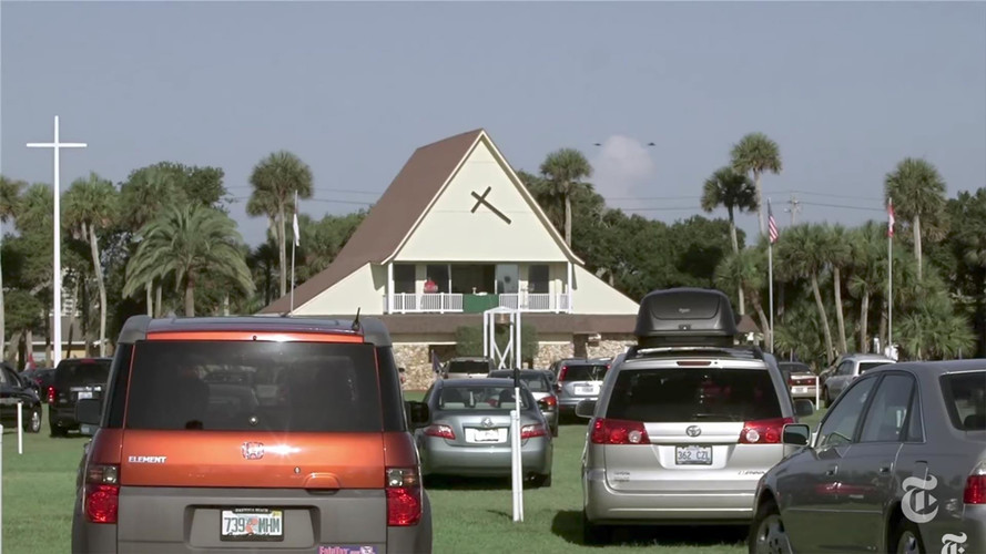 Forget Drive-In Movies, Florida's Car Church Offers Salvation