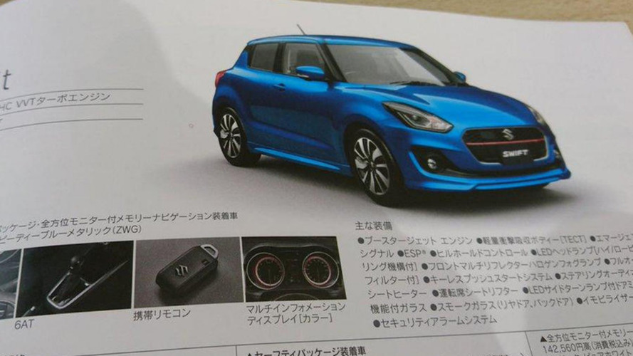 Nouvelles images de la Suzuki Swift à travers le catalogue officiel