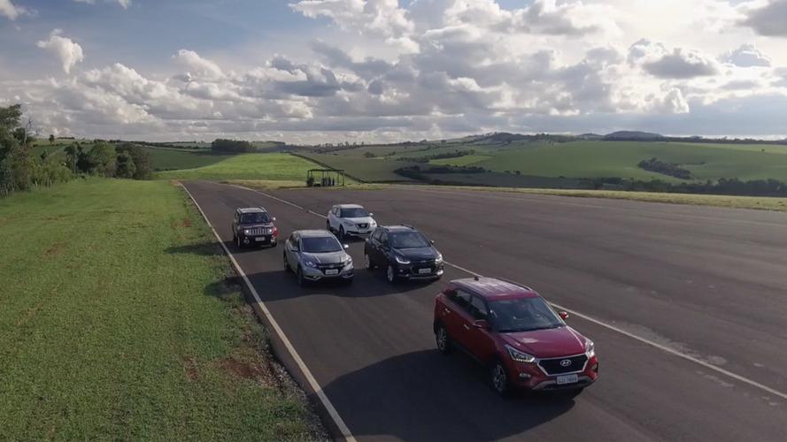 Supercomparativo SUVs - Hyundai Creta x Chevrolet Tracker x Nissan Kicks x Honda HR-V x Jeep Renegade