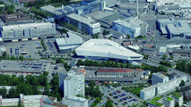 Aerial view of Porsche Zuffenhausen production campus 17.03.2010
