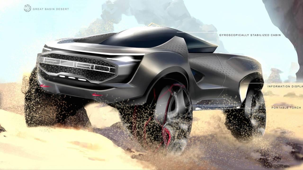 2050 Ford Autonomous Pickup