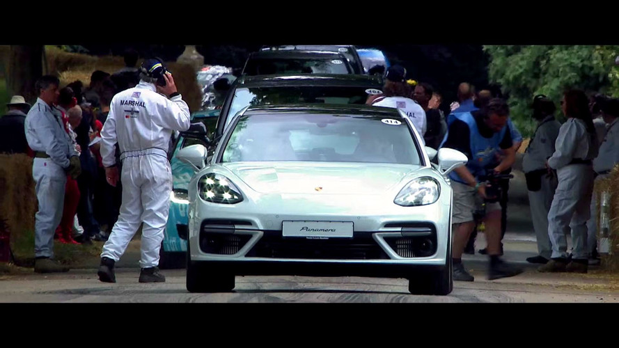 Porsche Panamera Sport Turismo Looks Sweet On The Goodwood Hill