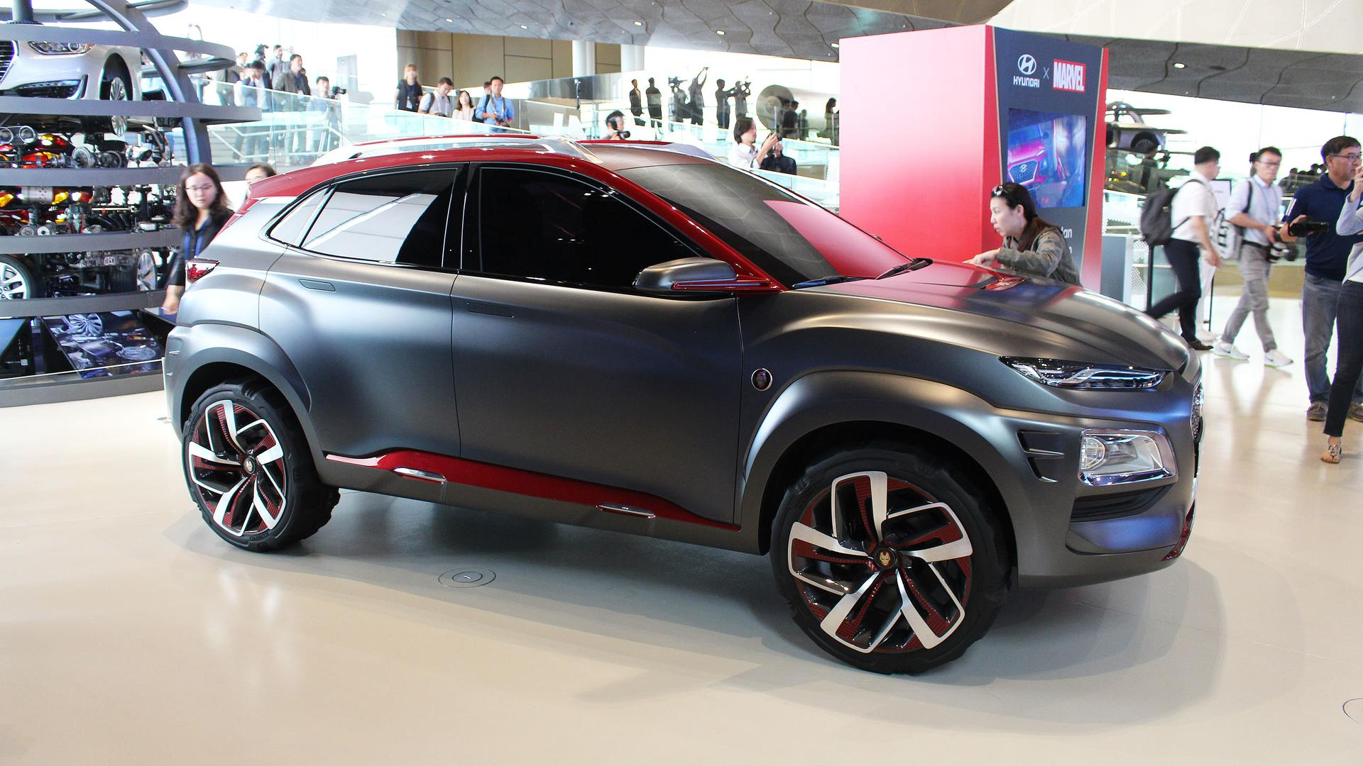 oh good there 39 s already a hyundai kona iron man edition. Black Bedroom Furniture Sets. Home Design Ideas