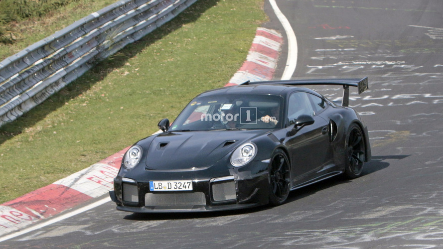 2018 Porsche 911 GT2 Spied At The Nürburgring With Huge Rear Wing