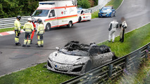 Acura NSX prototype catches on fire