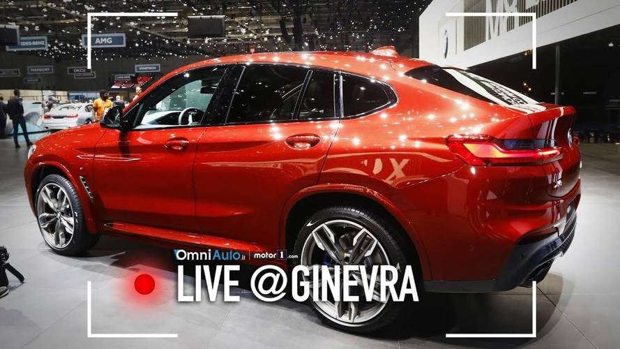 Nuova BMW X4, la seconda generazione vista dal vivo al Salone di Ginevra