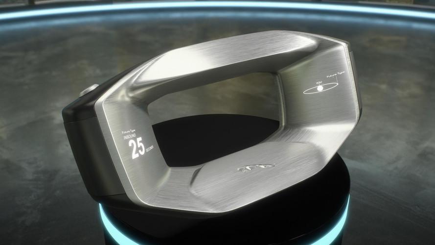 Así es el futurista volante de Jaguar