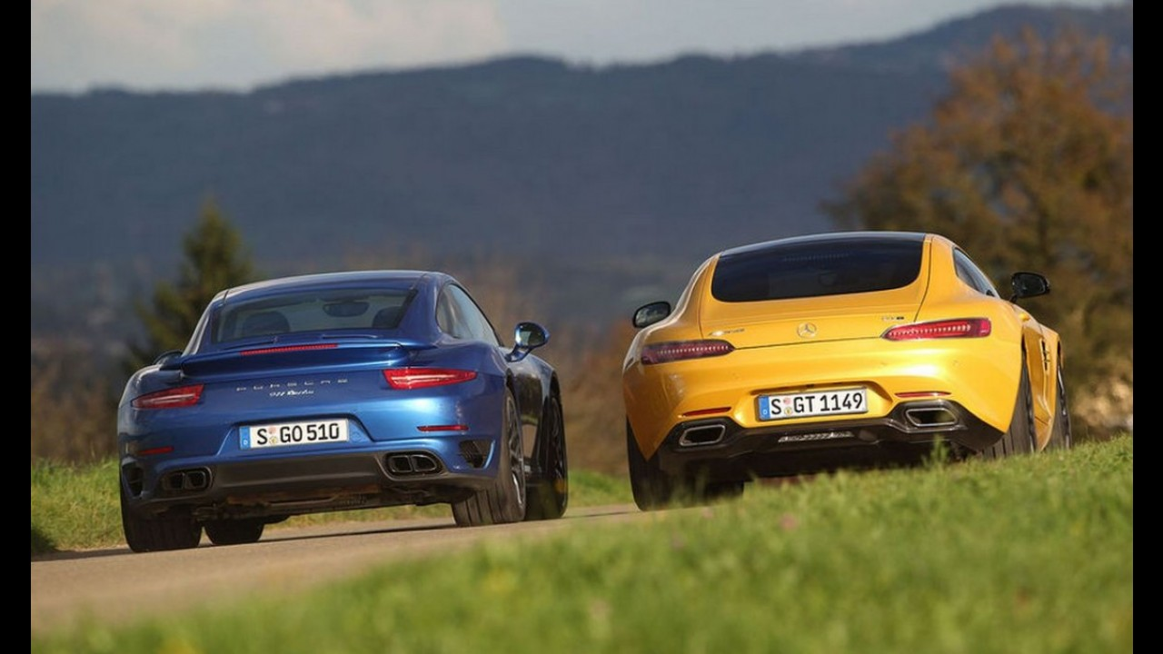 Mercedes provoca Porsche 911 em anúncio do AMG GT no Brasil - vídeo