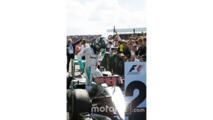 Nico Rosberg, Mercedes AMG F1 W07 Hybrid in parc ferme