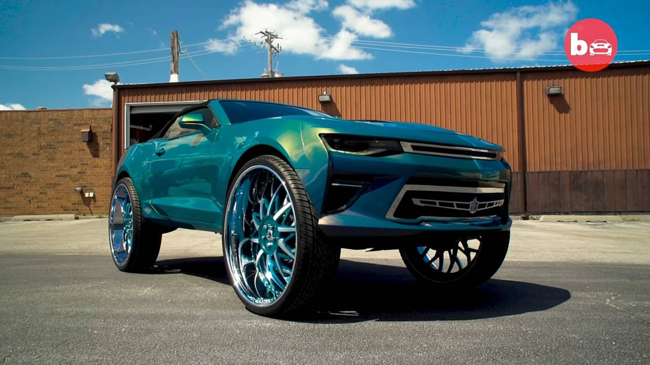 Chevy Camaro On 32 Inch Wheels Will Not Leave You Indifferent